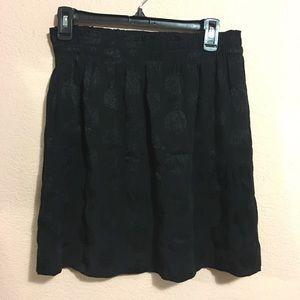 LOFT skirt - stretchy, black, subtle paisley
